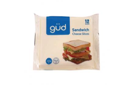 Gud Sandwich Slice Cheese 12 Slices